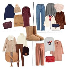 """Uggs"" by kuznetsovavv on Polyvore featuring мода, Uniqlo, Acne Studios, Alberto Biani, Dorothy Perkins, rag & bone, Chloé, Gucci, Aspinal of London и MICHAEL Michael Kors"