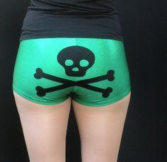 Skull and Crossbones Roller Derby Shorts