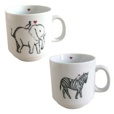I pinned this 2 Piece Elephant and Zebra Mug Set from the Rust Designs event at Joss & Main!