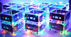 Cassette lights perfect for a small centerpiece.