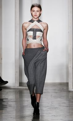 How To Pull Off Culottes: 5 Fall 2014 Ideas: Pair With A Crop Top