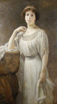 https://flic.kr/p/cr7u3U | Joseph Marie Louis Janssens | Portrait of an elegant lady, 1911. Belgian, 1854-1930