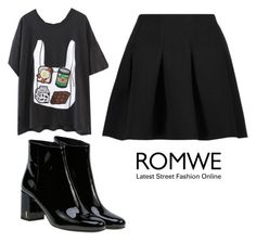 """""""black"""" by thais-santana-1 ❤ liked on Polyvore featuring T By Alexander Wang and Yves Saint Laurent"""