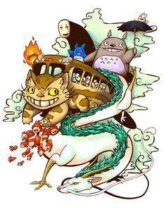 Studio Ghibli Inspired Tattoo by Antilogist.deviantart.com on @DeviantArt