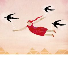 fine art print - learn to fly - Red Cheeks Factory