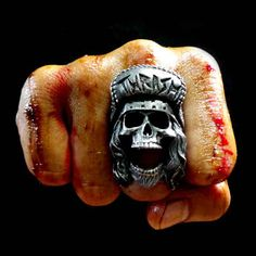 This the THRASH ring made by Fourspeed Metalwerks