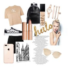 """Untitled #4"" by alicestyletime on Polyvore featuring Calvin Klein, IRO, Vans, Balenciaga, Sephora Collection, Bombay Duck, Charlotte Tilbury, Christian Dior, NARS Cosmetics and Anne Klein"