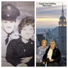 #TBT: In 1963, these sweethearts visited the #EmpireStateBuilding. 51 years and 11 grandkids later, they came back! #NYC