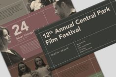 12th Central park film festival by TAWEESAK TOMONGKOL, via Behance