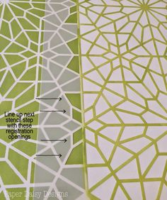 How to stencil - Easy to use registration marks guide your stenciling for the perfect pattern lined up every time! Starry Moroccan Night Stencil by Royal Design Studio