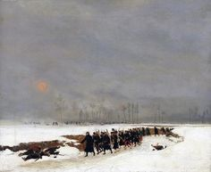 1870 An Infantry Column on their Way to a Raid - Jean-Baptiste Edouard Detaille