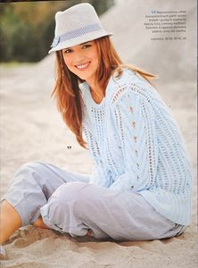 Ажурный свитер (вязание спицами,схема)