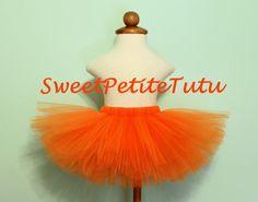 Orange Tutu Orange Girl's Tutu Preemie Newborn by SweetPetiteTutu