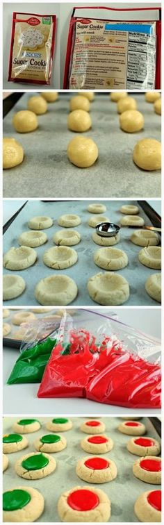 Christmas Thumbprint Cookies ~ Such a simple and easy cookie that was always made for Christmas in my home as a child!