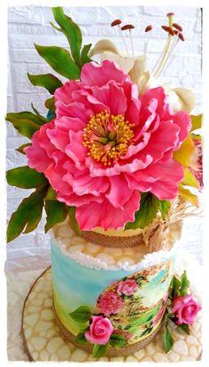 SPRING PEONY - Cake by Galia Hristova – Art Studio