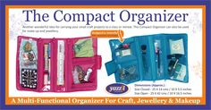 Yazzii offers great cosmetic bags and jewelry organisers including jewellery storage, craft storage and craft organisers Craft Organization, Craft Storage, Quilting Projects, Craft Projects, Cosmetic Storage, Craft Accessories, Jewellery Storage, Compact, Organising