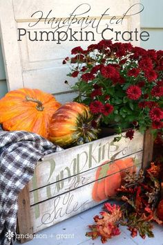 Paint a Pumpkin Crate Tutorial: After your trip to the pumpkin patch, try adding some DIY flair to more than just your gourds.