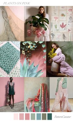 PLANTS ON PINK by PatternCurator