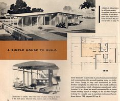 Home plans bahiahostels vintage ranch house plans awesome mid century modern house architectural plans Vintage House Plans, Modern House Plans, Modern Houses, Vintage Homes, Vintage Architecture, Architecture Plan, Craftsman Style Decor, Modern Front Porches, Modern Architectural Styles