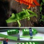 Paper+alligator
