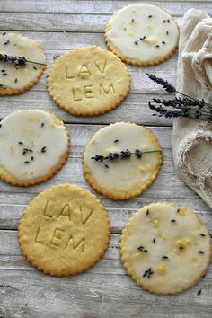Lemon Glazed Lavender & Lemon Shortbread Cookies