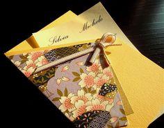Original Washi Paper Wedding Invitations  Washi paper - re-Pinned by HankoDesigns.Com