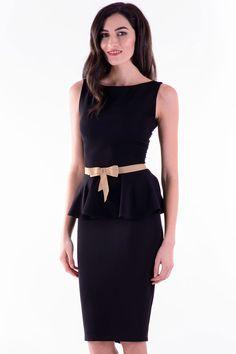 Rochie Roxana Negru – Karla.Club Peplum Dress, Club, My Style, Dresses, Fashion, Gowns, Moda, La Mode, Peplum Dresses