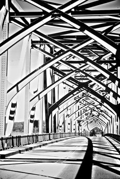 McCullough Bridge, Coos Bay Oregon... the criss cross architecture and the extreme contrast in the shadows makes this another one of my favs.
