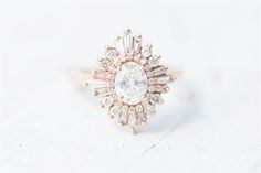 Heidi Gibson Designs Gatsby Ring, Rose Gold, Oval Cut | Austin Wedding Photographer | Angie L Photography