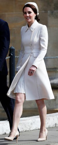 16 Apr 2017 - Duchess of Cambridge attends first Easter Sunday Service with the Queen