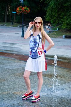 Ahoy, there! Nautical Look Nautical Looks, Jeffrey Campbell, Summer Dresses, Style, Fashion, Summer Sundresses, Moda, Sundresses, Stylus