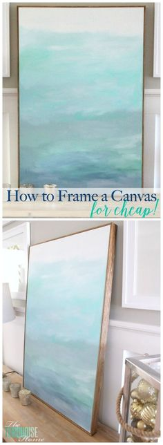 to Frame a Canvas (for Cheap No WAY! This is such an easy (and cheap!) way to frame out a canvas. This is such an easy (and cheap!) way to frame out a canvas. Diy Wand, Halloween Dekoration Party, Mur Diy, Cuadros Diy, Diy Wall Art, Wall Decor, Diy Projects To Try, Painting Techniques, Art Tutorials