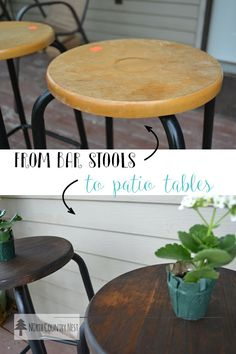 from bar stools to patio side tables - easy & simple DIY