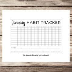 12 Month Digital Bullet Journal Habit Tracker – Free Printable Download!