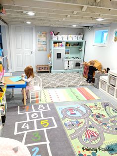 Basement playroom ideas that inspire imaginative play for toddlers, pre-schools, and elementary age kids! Basement playroom ideas that inspire imaginative play for toddlers, pre-schools, and elementary age kids! Playroom Design, Playroom Decor, Modern Playroom, Colorful Playroom, Kids Playroom Colors, Sunroom Playroom, Playroom Layout, Wall Decor, Boy Decor