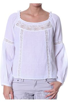 Odd Molly, #579 Flyweight Blouse white: This blouse is just hunky dory!:) Easy everyday blouse that you can throw on at any time.  100% light cotton, cotton lace trimmings, m.o.p buttons and vintage wash.