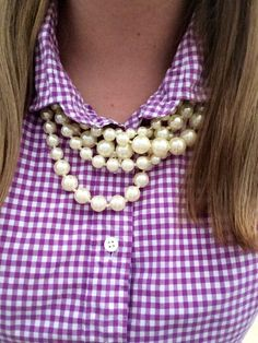 Pearls and Gingham