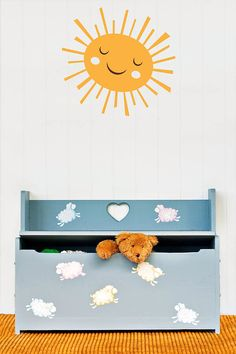 I've just found Sun Wall Stickers. This cute sunshine is the perfect add on for our tree wall sticker packs. . £15.00