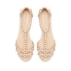 studded sandals | zara