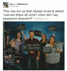 jensen ackles. hashtag photo op. love it!