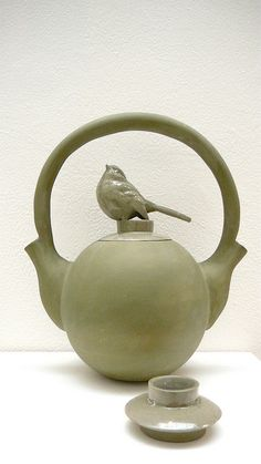"Teapot by Kevin Morris--sweet balanced weight with the ""double spout"""