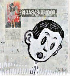 #paintingonnewspaper #graffiti #bobojohns