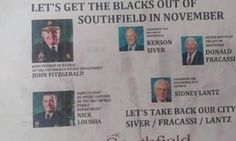 Racist flyer urges voters in Detroit suburb to 'get the blacks out' of office