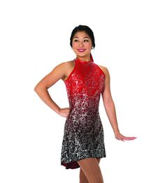 New Jerrys Competition Skating Dress 70 Warrior Princess Red Black Made on Order Ice Dance Dresses, Figure Skating Dresses, Warrior Princess, Sleeve Styles, Skate, Formal Dresses, Elegant, Outfits, Clothes
