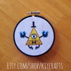 Gravity Falls Bill Cipher cross stitch! For sale at etsy.com/shop/kiycrafts