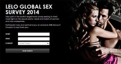 Participate in LELO's global sex survey and you'll get 20% off your order with them!