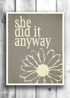 Motivational Poster Quote Print Girl's Room art by Happy Letter Shop