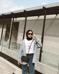 63 Ideas for funny girl outfits Modest Fashion Hijab, Modern Hijab Fashion, Street Hijab Fashion, Hijab Style, Casual Hijab Outfit, Hijab Fashion Inspiration, Ootd Hijab, Look Fashion, Fashion Outfits