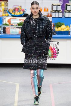 Chanel 14A Multicolor Coat Dress - Runway and Ad Campaign image 2