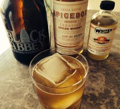 Blondes Have More Fun - 2 oz Spicebox Whisky, 1.5 oz whites habanero syrup, 4 oz The Black Abbey Brewing Company 's Rose Beer, #whiteselixirs, #whitebroselixology